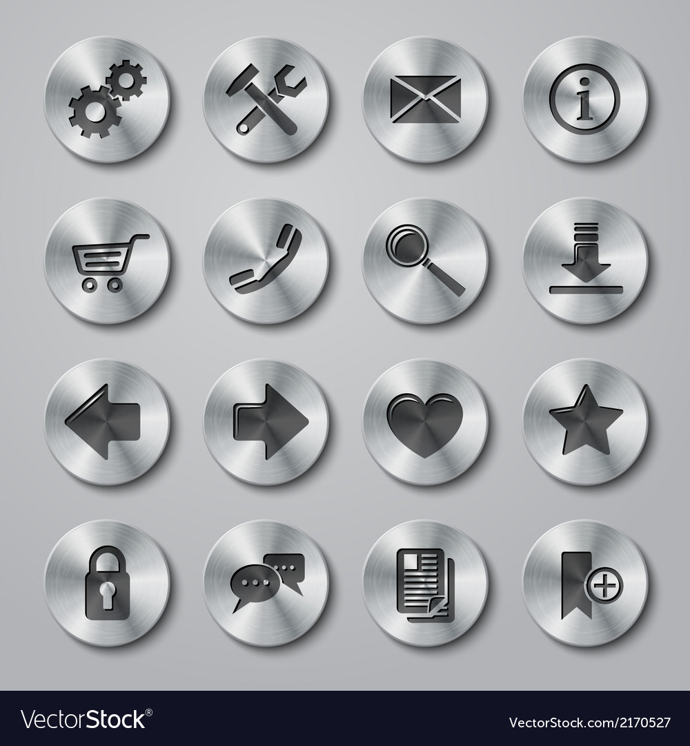 Website Icons Metal vector image