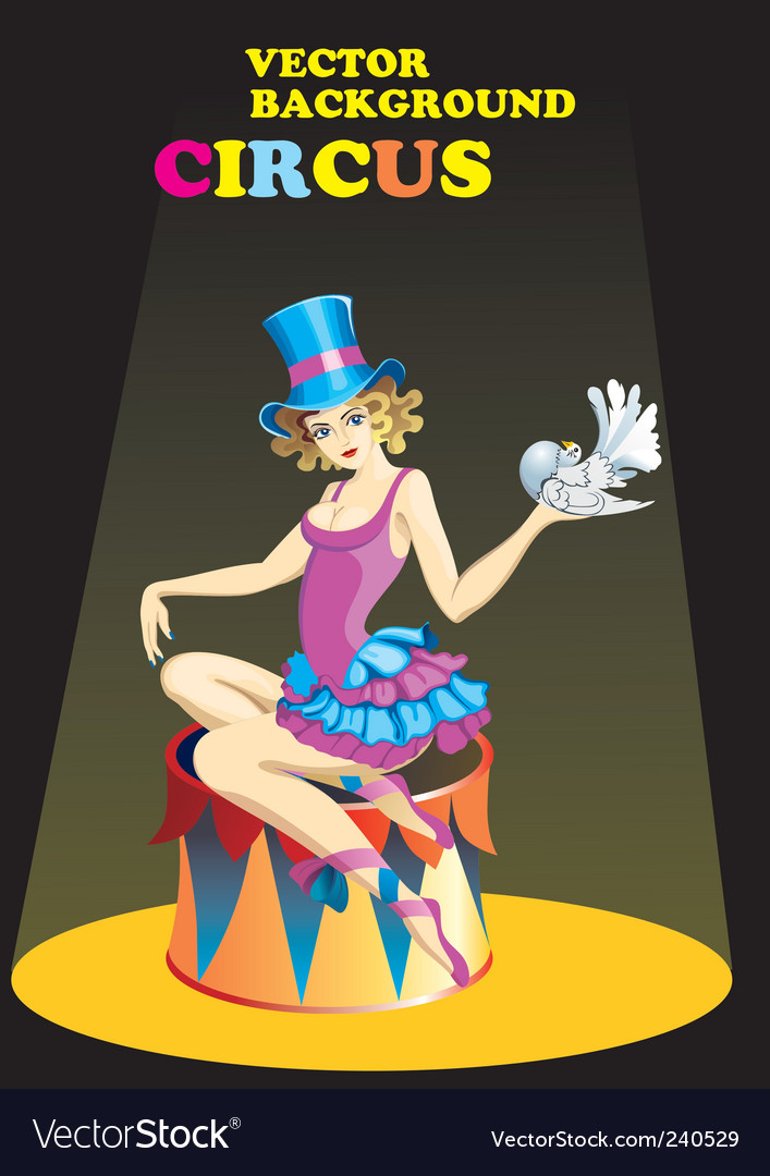 Circus performer vector image
