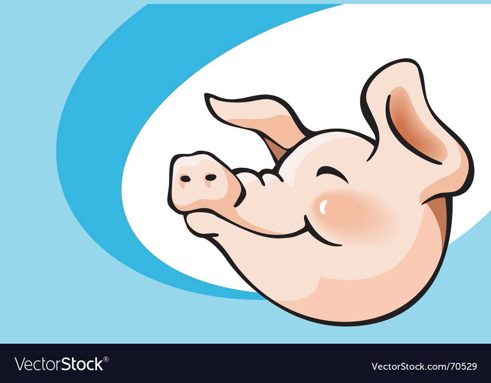 Smiling pig vector image