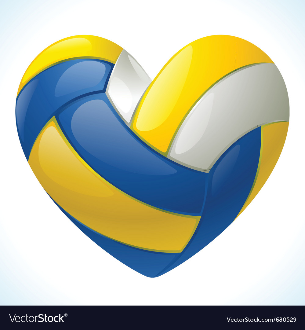 Volleyball heart vector image