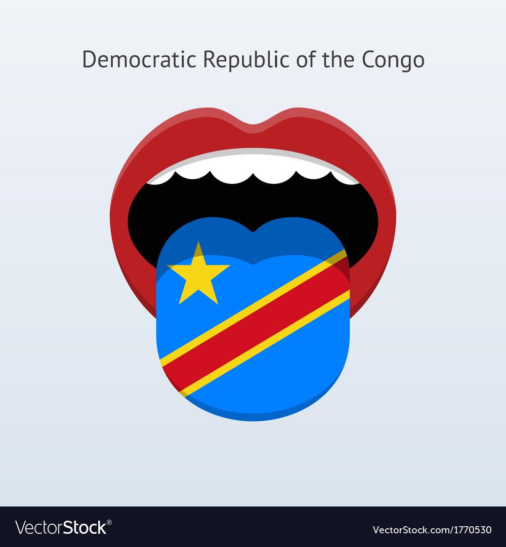 Democratic Republic of the Congo language vector image