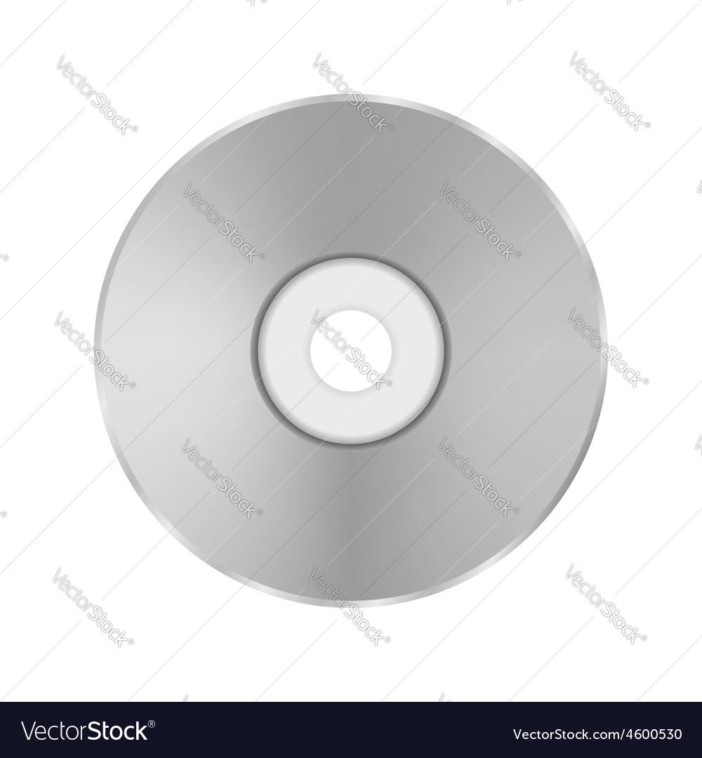 Grey Compact Disc vector image