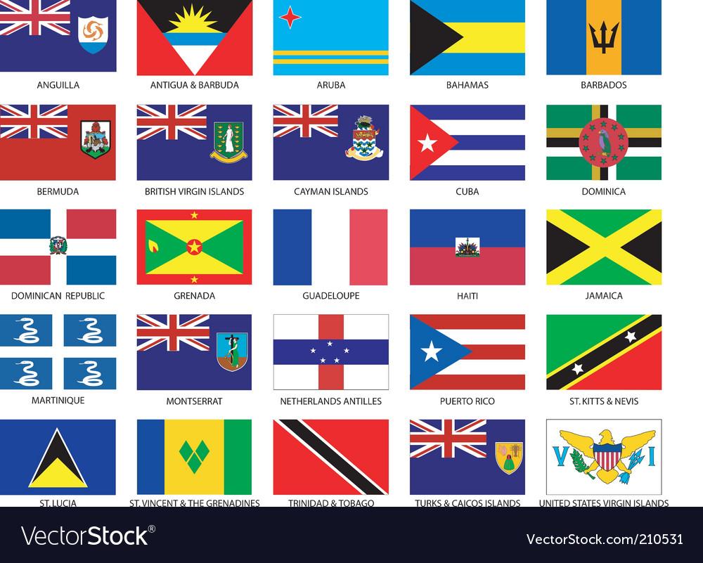Caribbean flags vector image