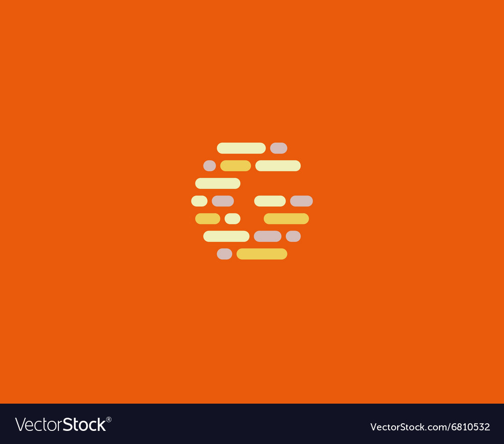 Abstract letter G logo Dynamic code vector image