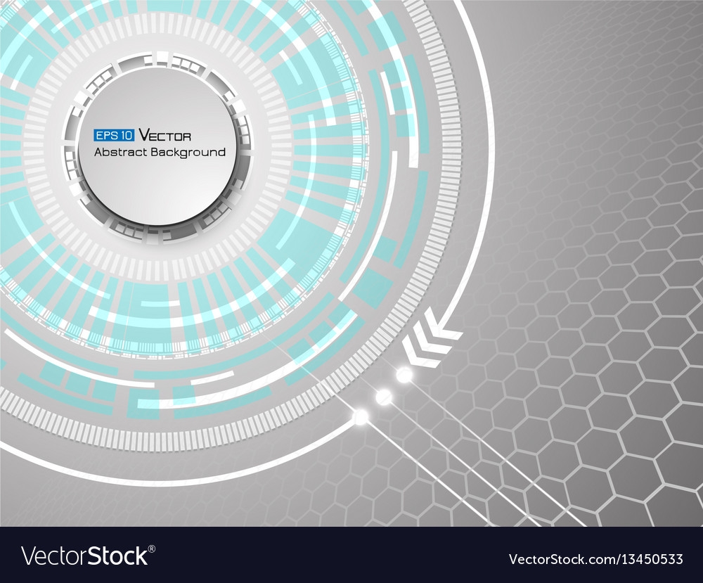 Abstract white circles background vector image