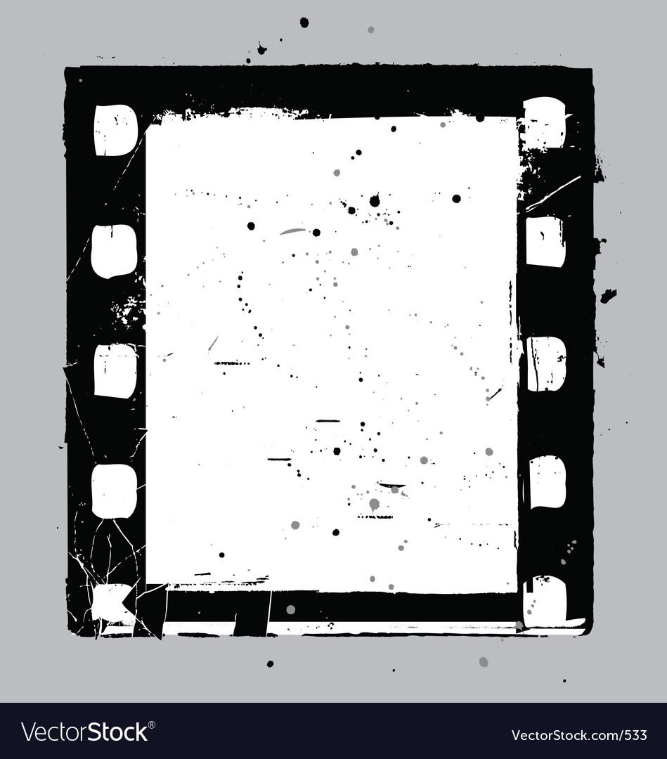 Negative film slide vector image