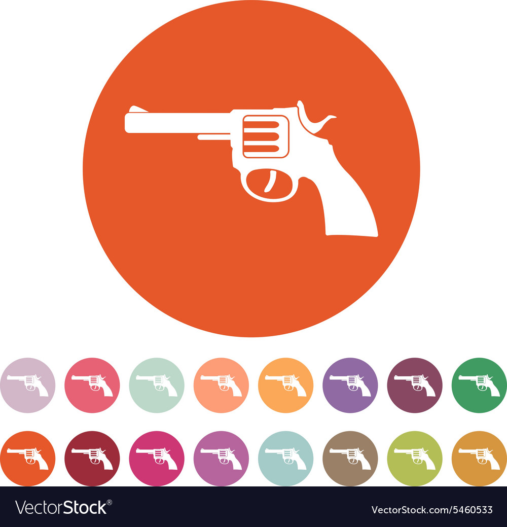 The revolver icon gun and weapon symbol flat vector image the revolver icon gun and weapon symbol flat vector image biocorpaavc