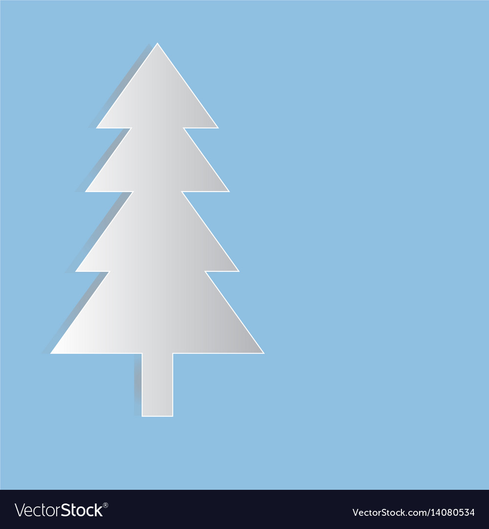 Christmas tree paper symbol for design vector image