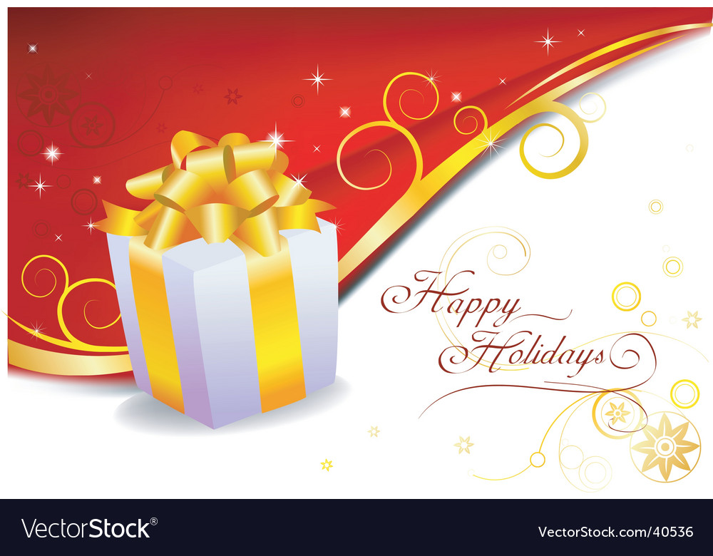 Holiday gift vector image