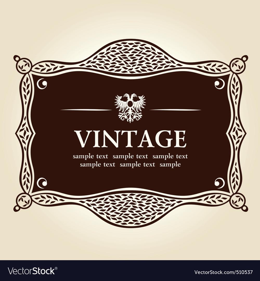 Vintage frame vector background vector image