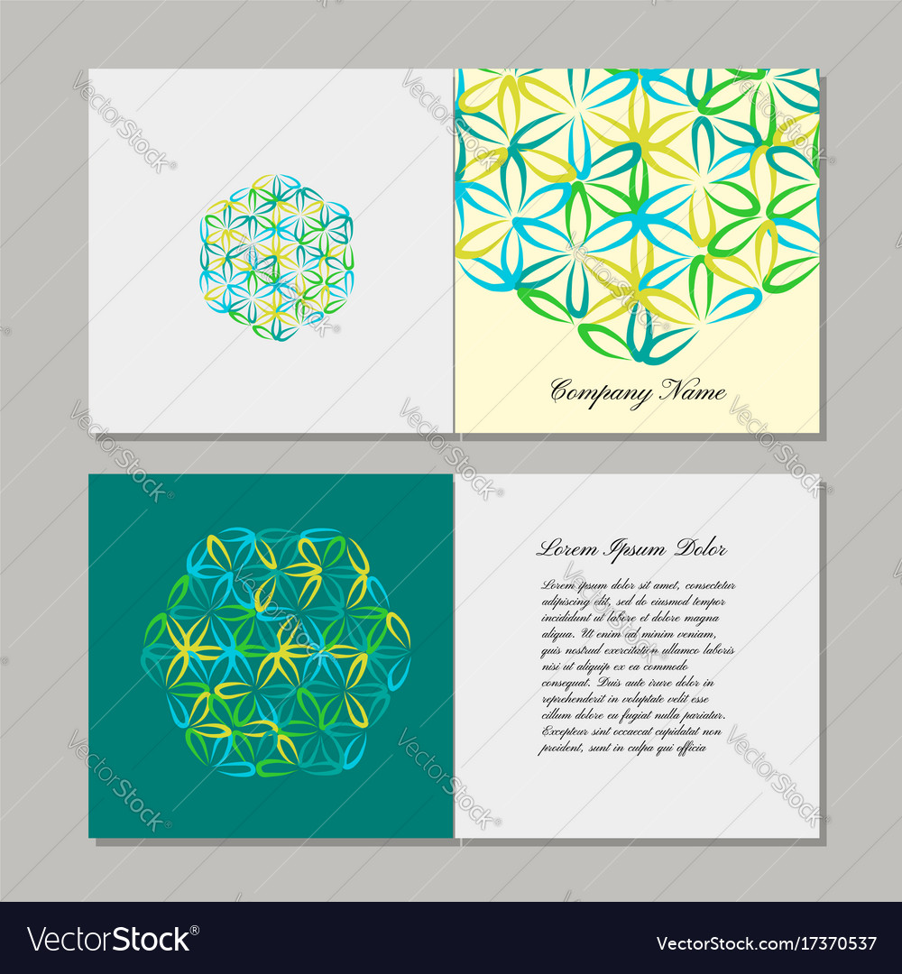 Greeting cards design flower of life royalty free vector greeting cards design flower of life vector image kristyandbryce Image collections