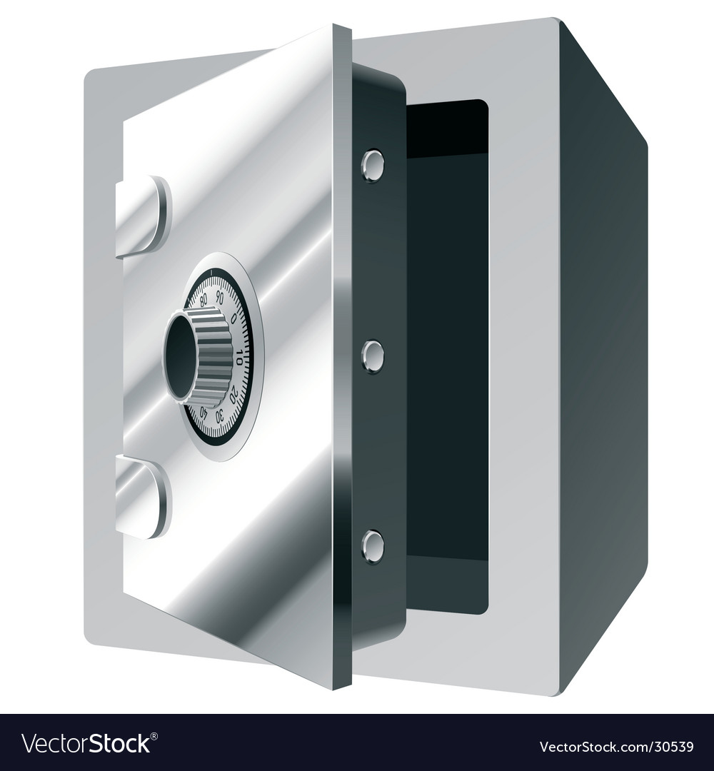 Steel safe vector image