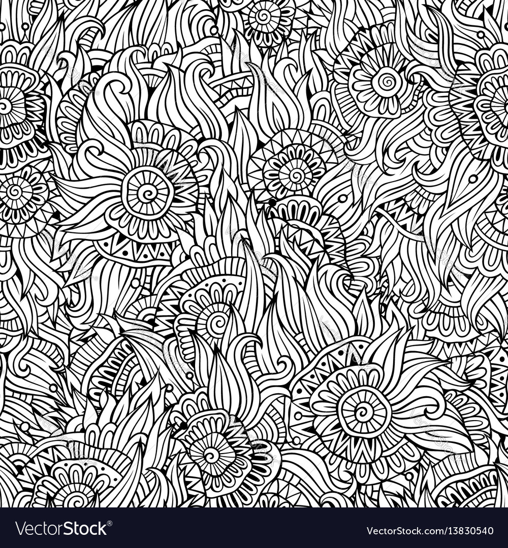 Beautiful abstract decorative floral seamless vector image