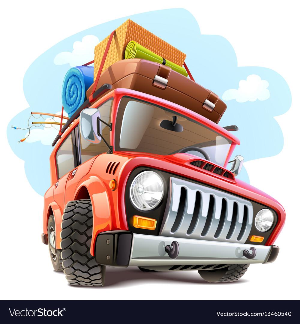 Travel car vector image