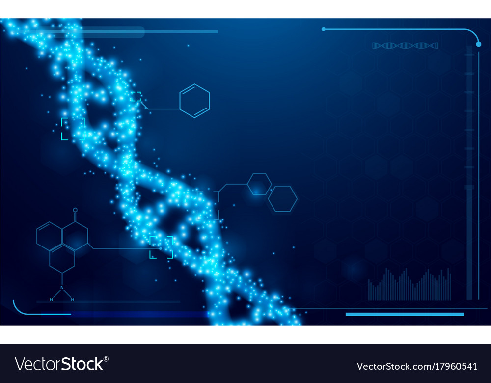 Dna and molecules interface virtual future vector image