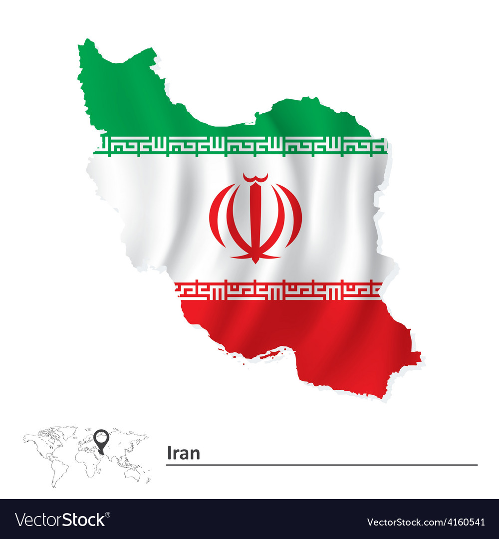 Map of iran with flag royalty free vector image map of iran with flag vector image buycottarizona Choice Image
