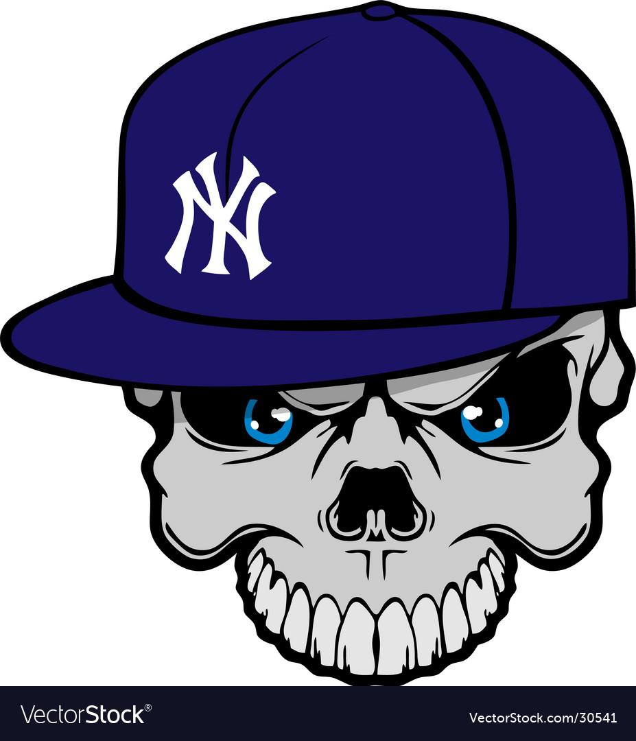 Yank skully vector image