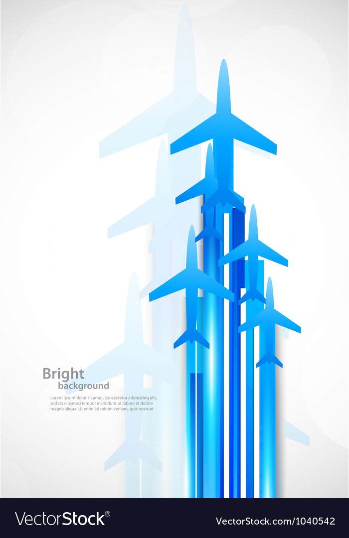 Background with airplanes Vector Image