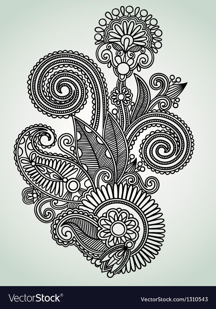 Design ornamental decoration vector image