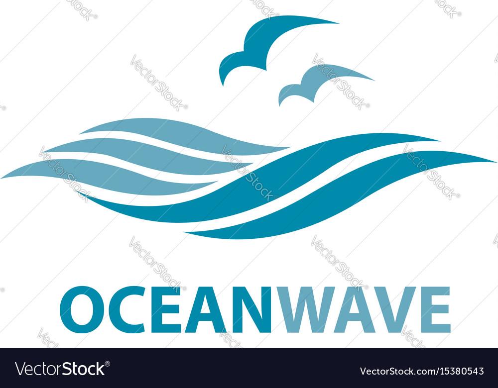 ocean wave logo royalty free vector image vectorstock rh vectorstock com wave logo design wave logon