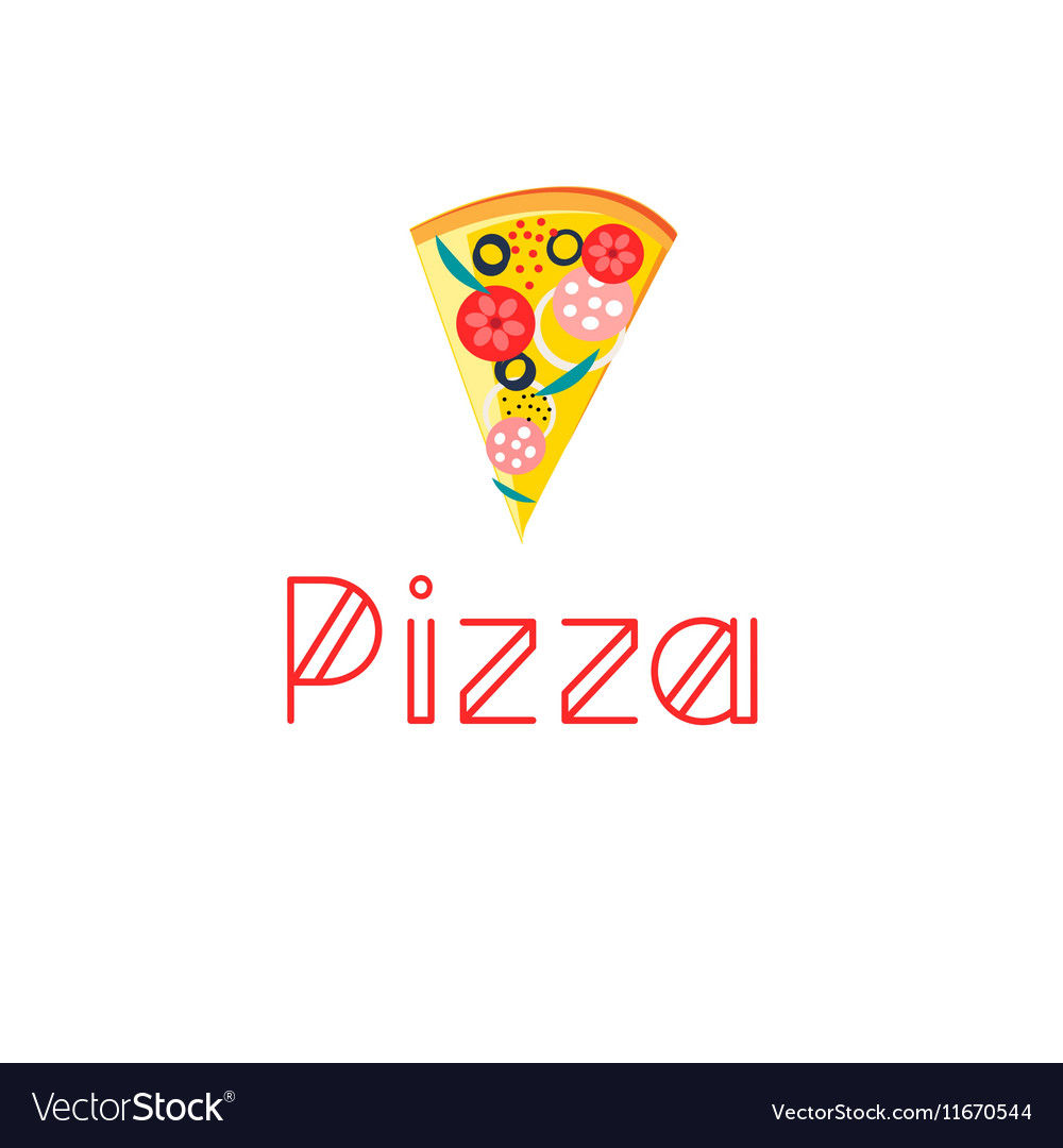 Bright delicious slice of pizza vector image