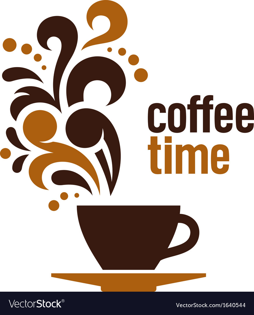 Coffee Time Royalty Free Vector Image Vectorstock