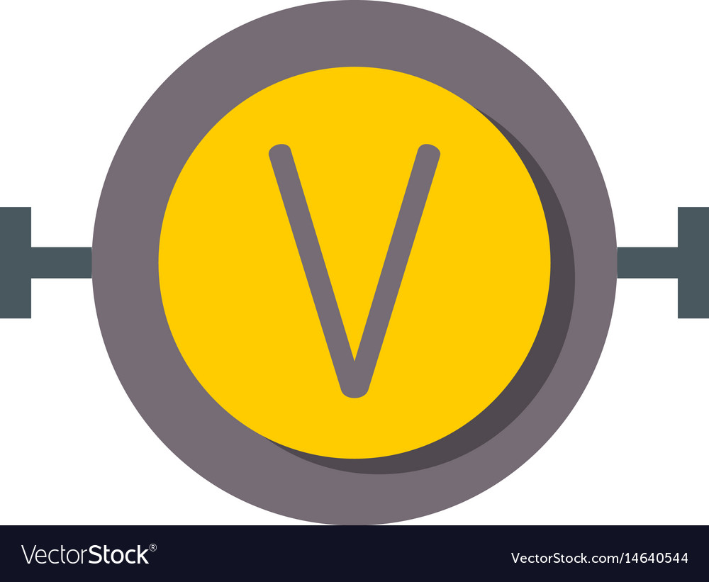 High voltage icon on rounded square button vector image