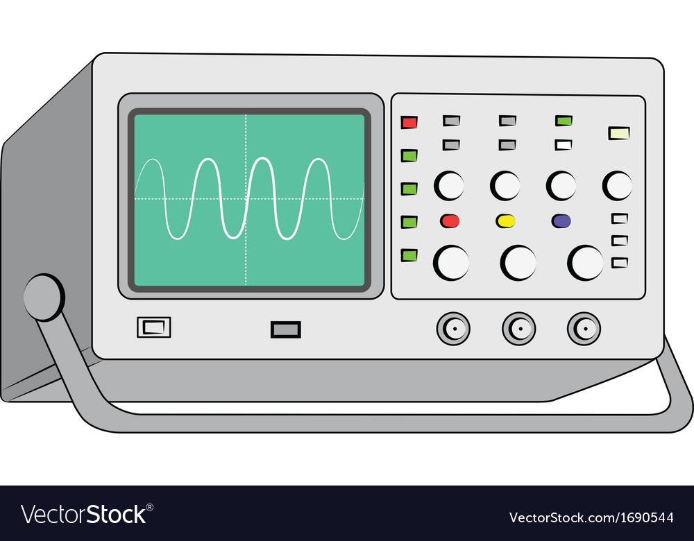Oscilloscopetest instrument vector image