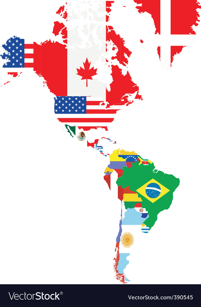 North And South America Royalty Free Vector Image - North and south america map