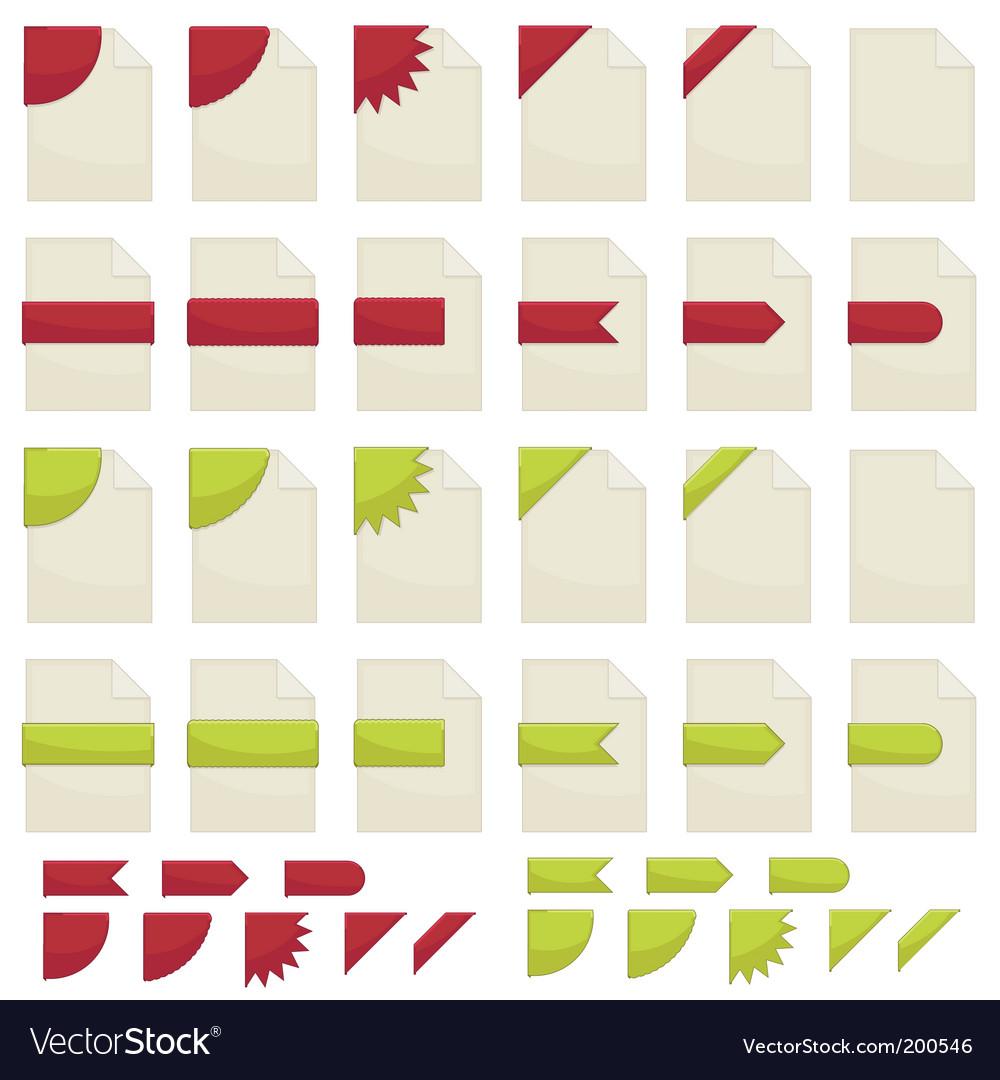 Deorative files vector image