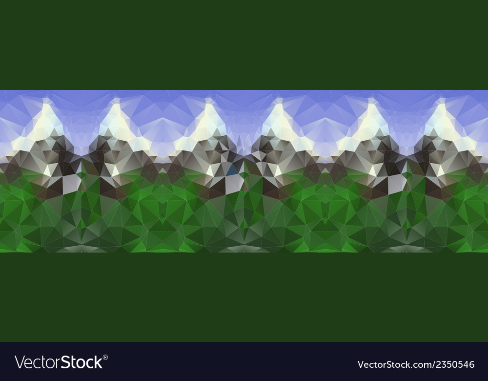 Polygonal seamless pattern with mountains