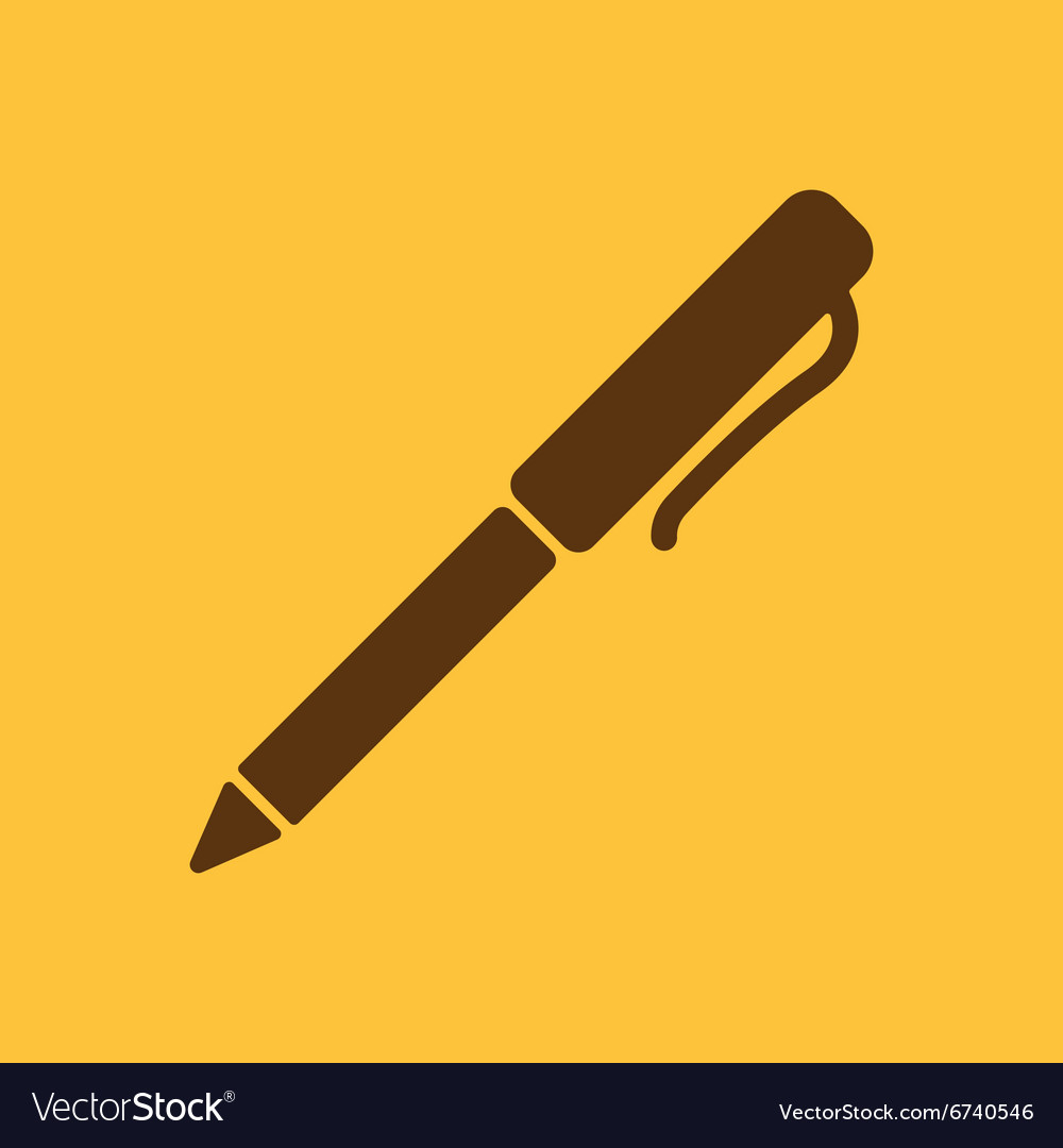 The pen and ballpoint icon writing symbol flat vector image biocorpaavc Choice Image