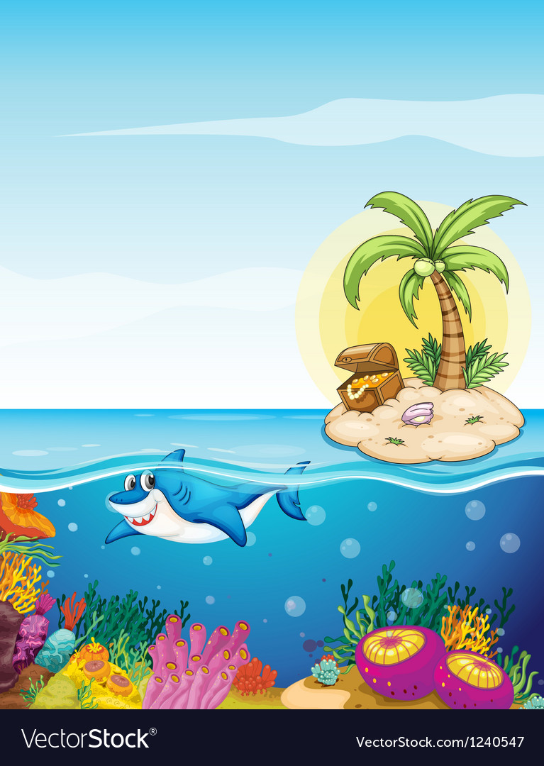 Beautiful underwater creatures vector image