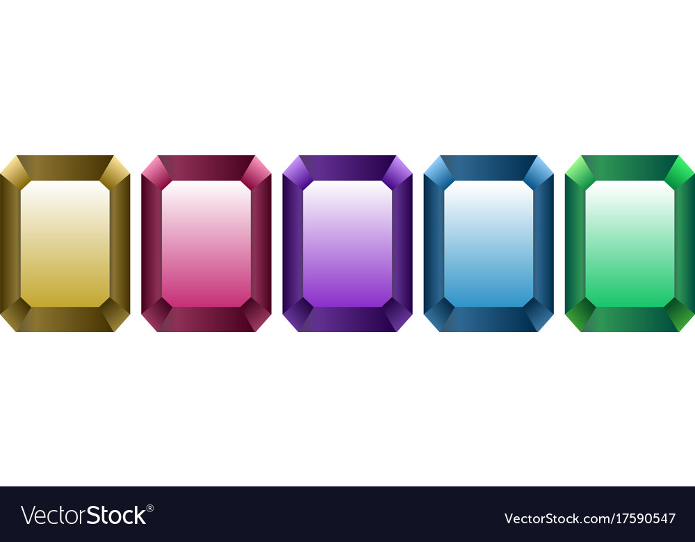 Different color crystals vector image