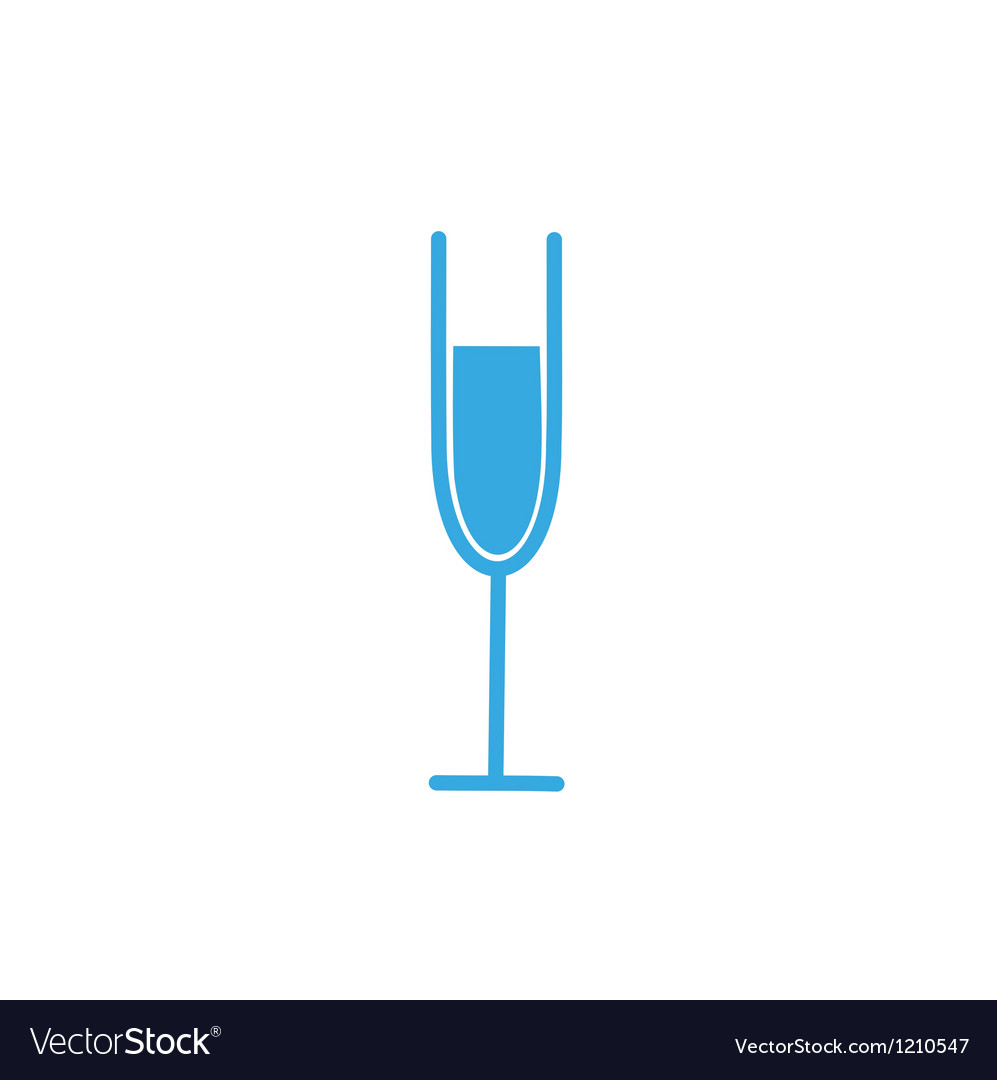 Stylized wine glass vector image