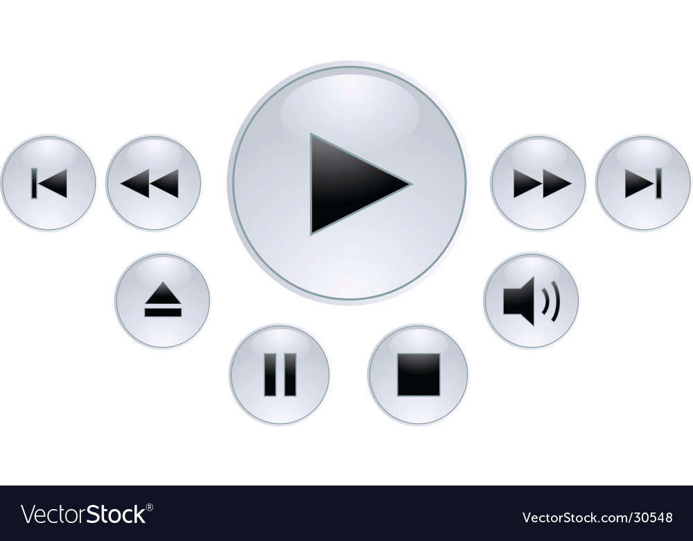 Panel for media player vector image