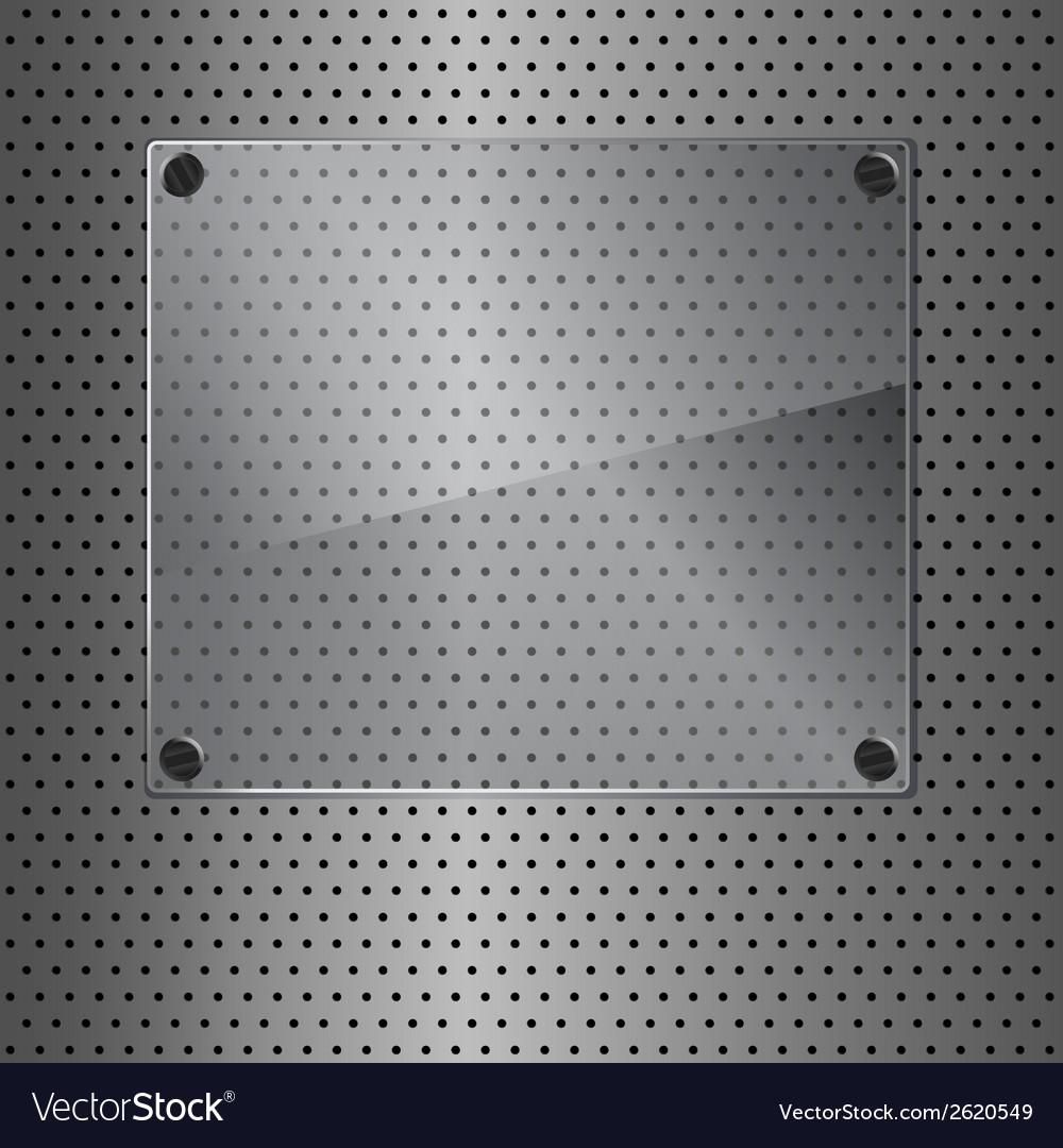 Metal and glass vector image