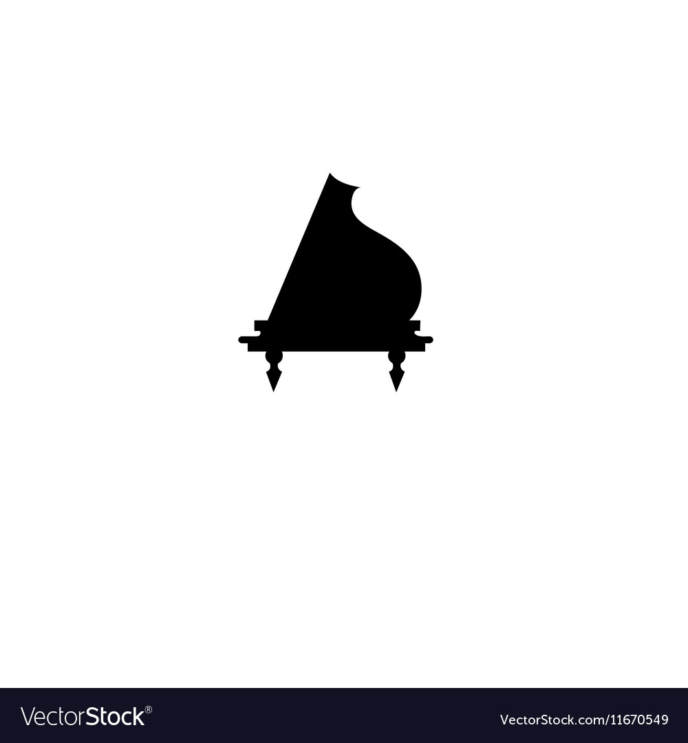 Sign design piano vector image