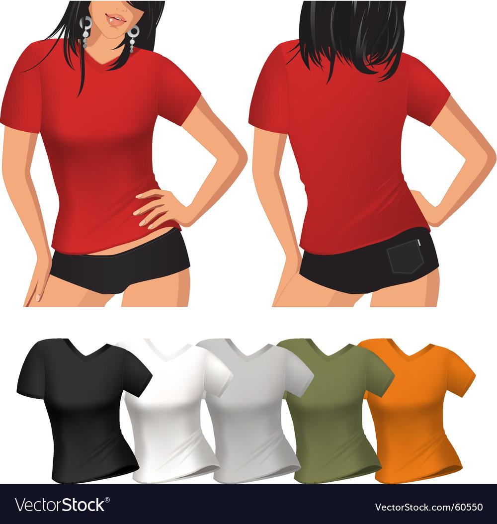 Woman's t shirt vector image