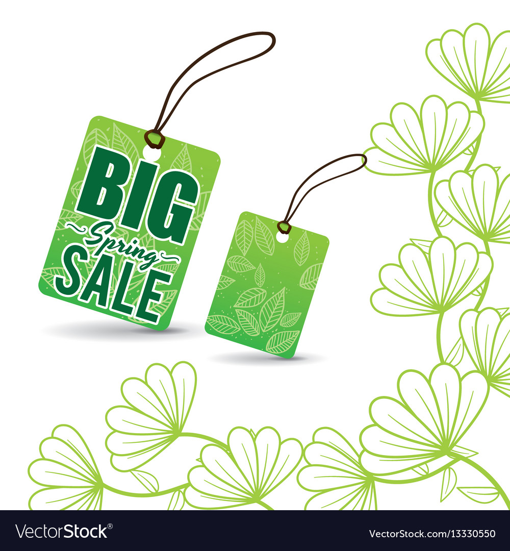 Big spring sale tag price flowers royalty free vector image big spring sale tag price flowers vector image mightylinksfo Images