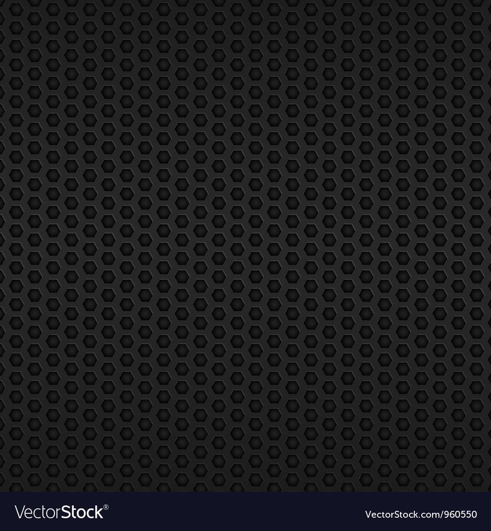 Black metallic mesh vector image