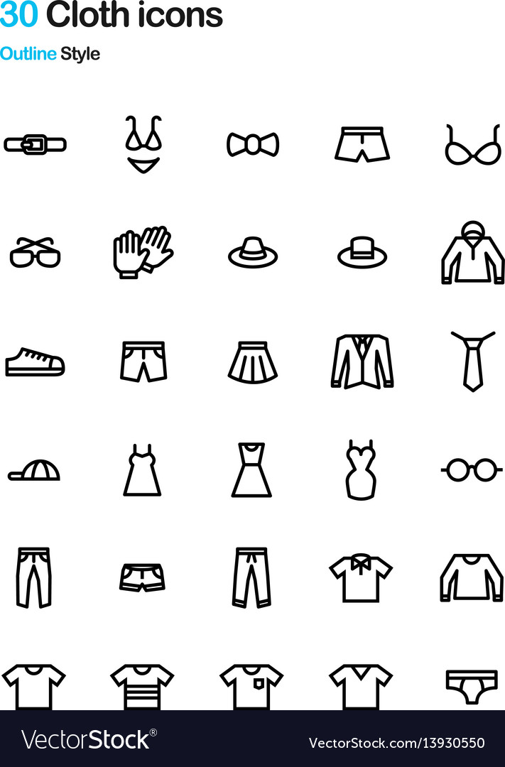 Cloth icons vector image