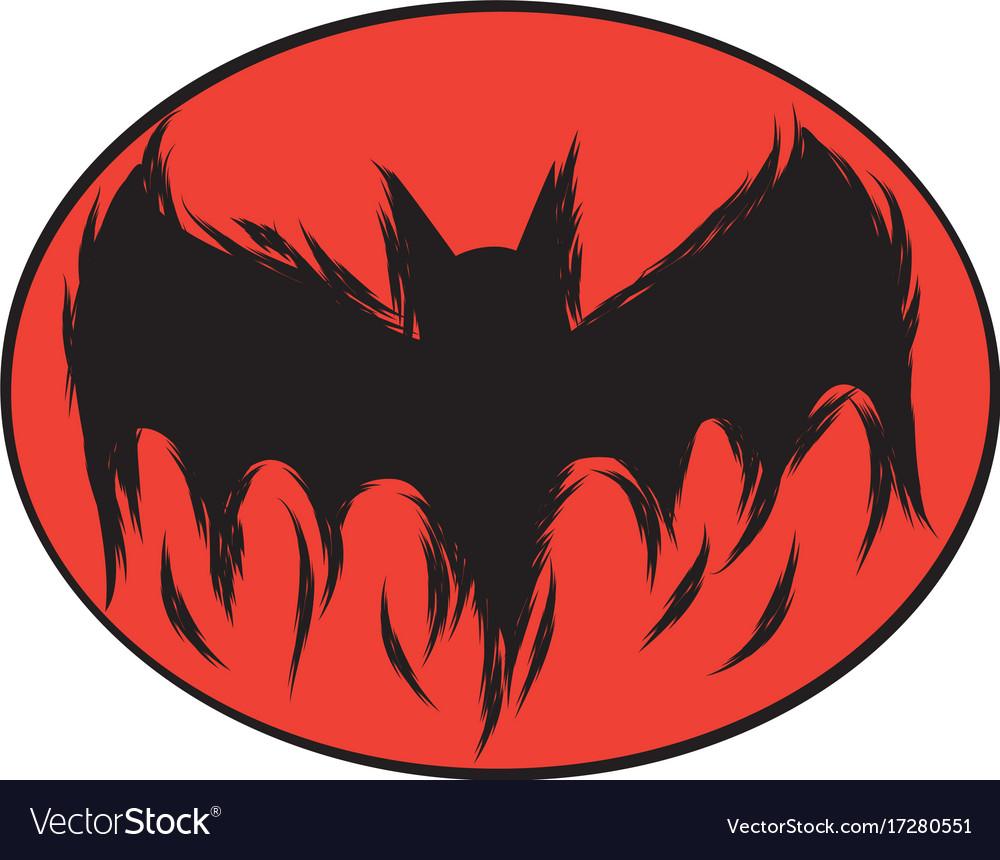 icon happy halloween bat devil ghost line art vector image - Halloween Bat Pics