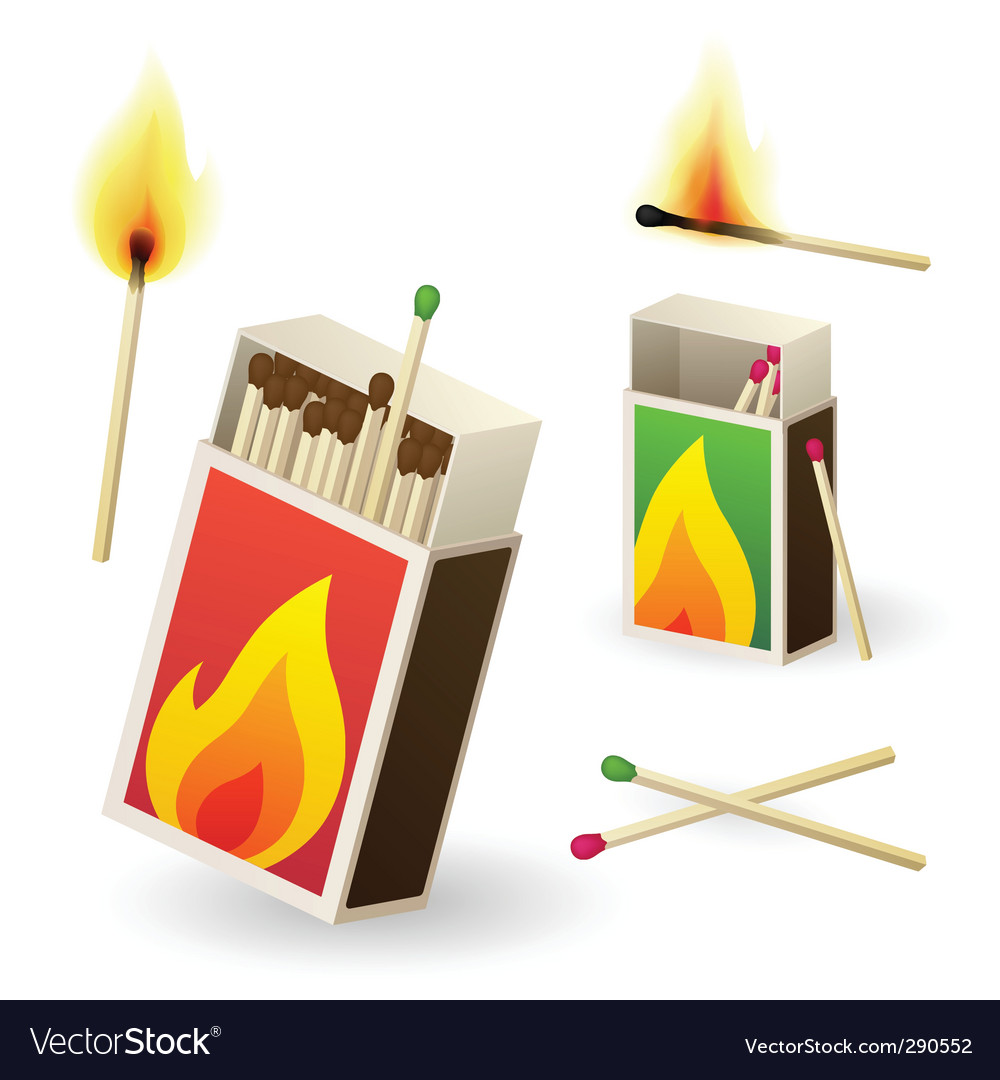 Matchboxes vector image