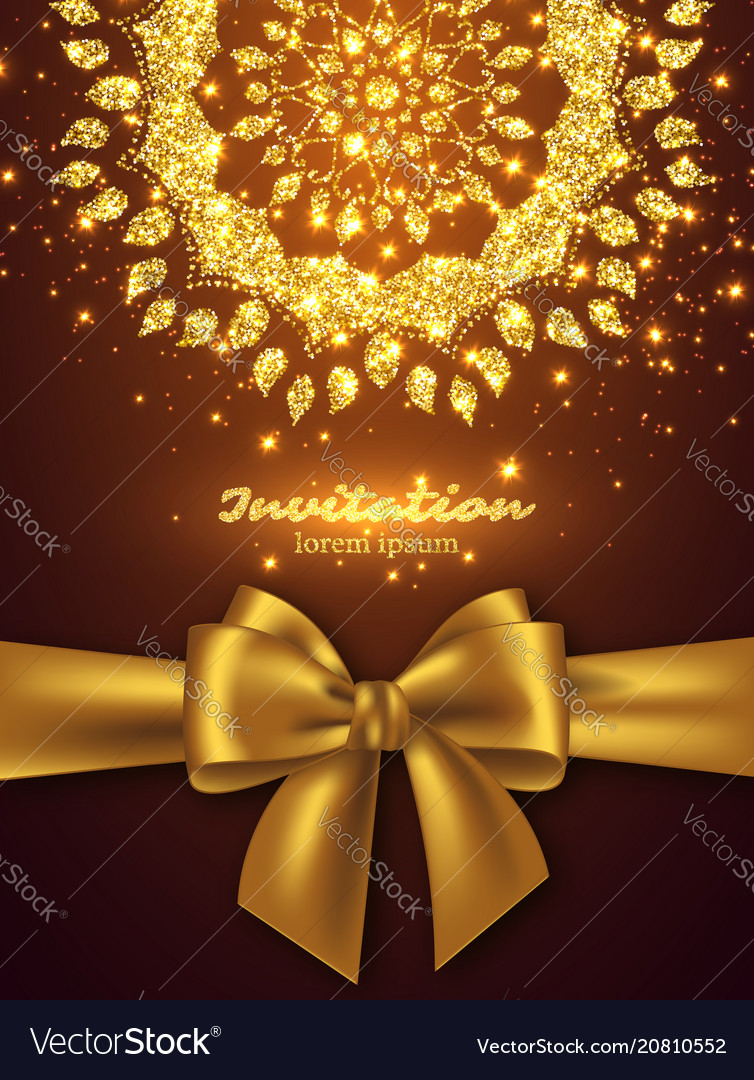 Glitter card design for greeting or invitation vector image stopboris Images