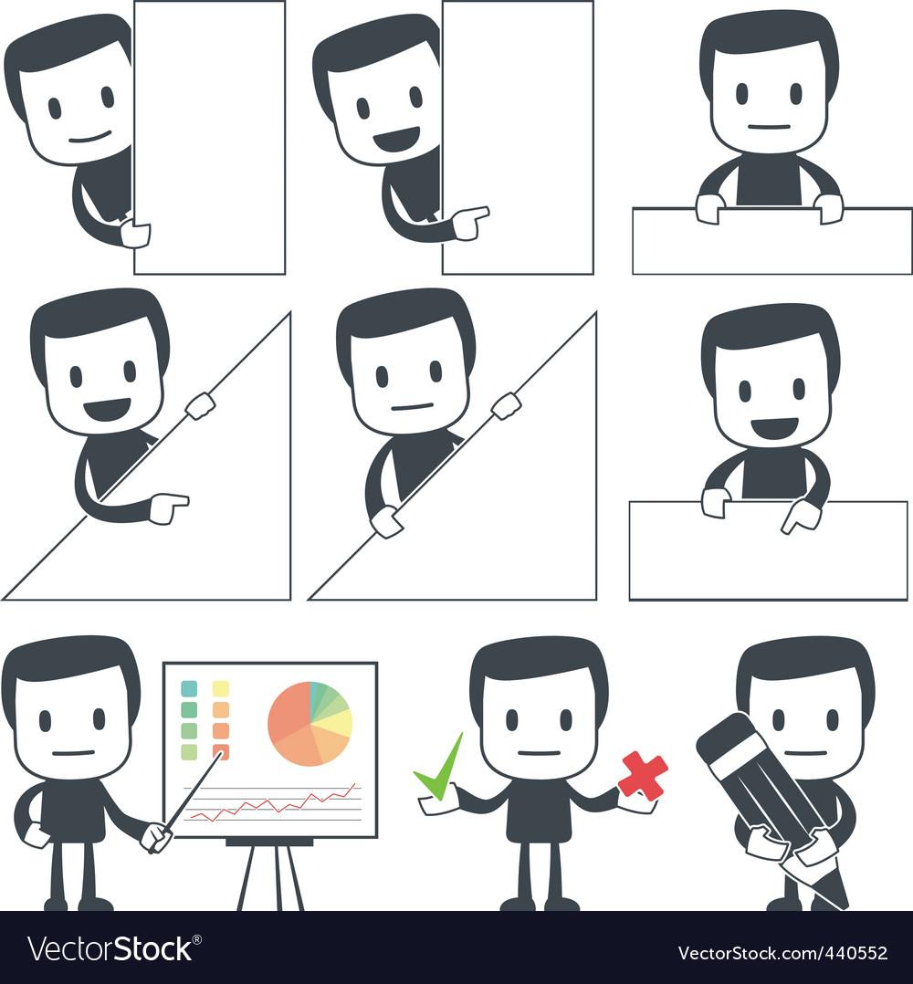 Icon man vector image