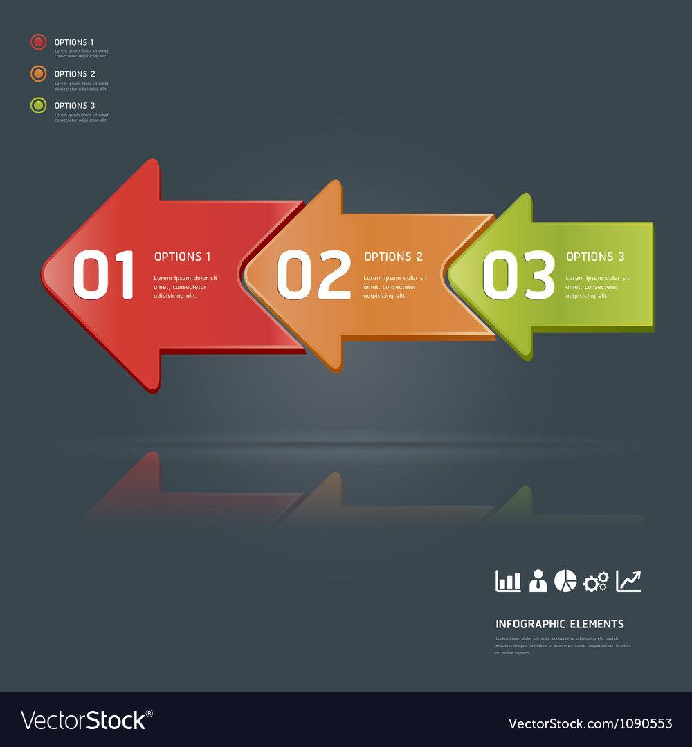 Colorful arrow number options Banner template Vector Image