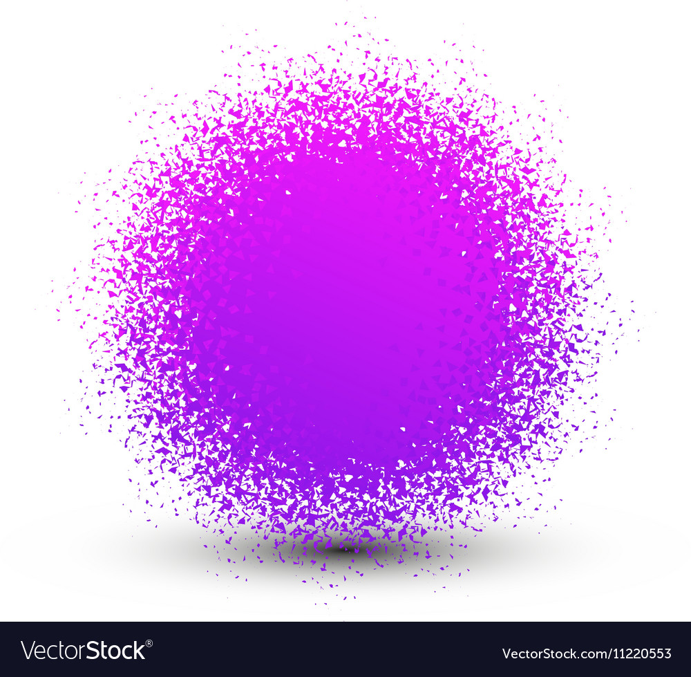 Abstract violet fluffy isolated sphere with shadow vector image