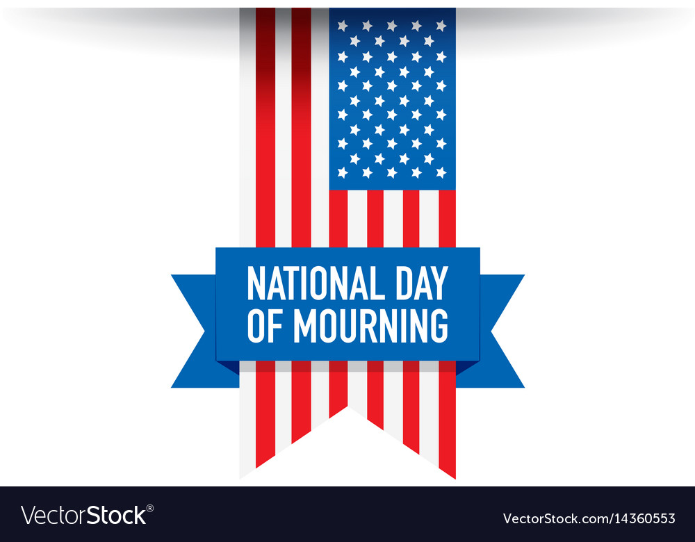 National day of mourning flag vector image