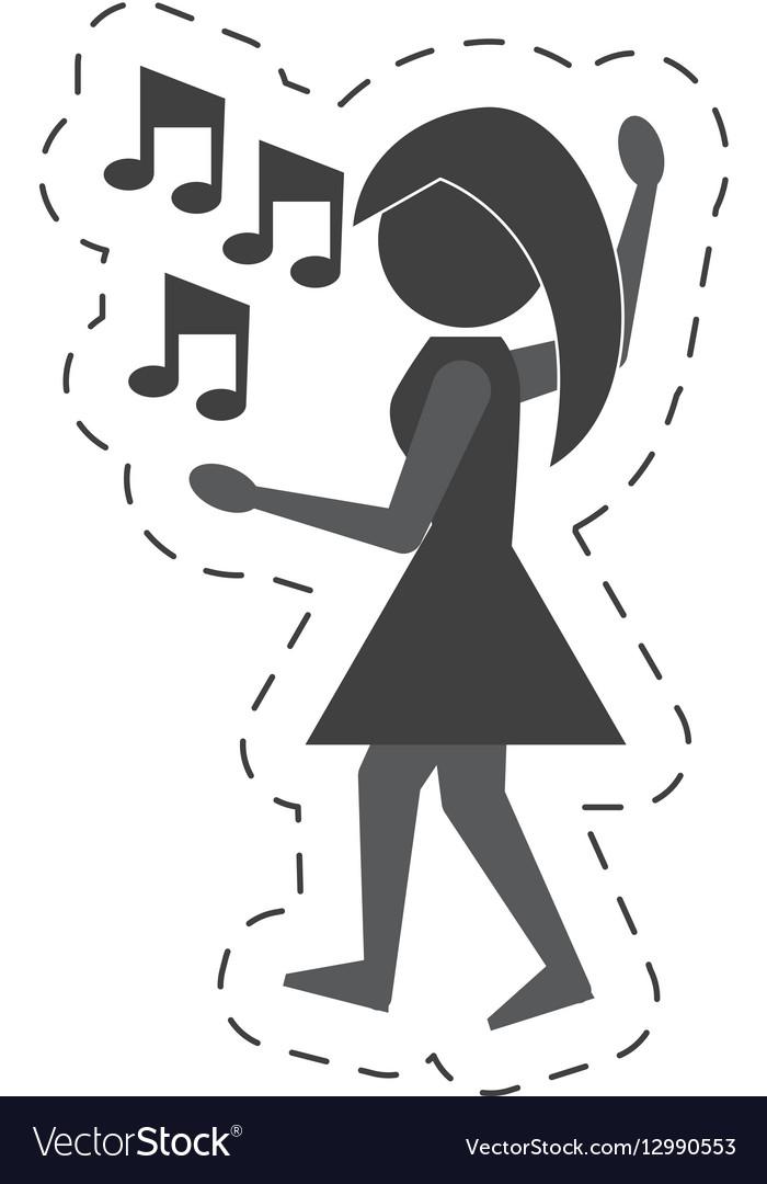 Woman dancing icon design vector image